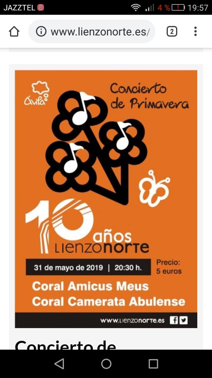Concierto de primavera – 10° aniversario Lienzo Norte