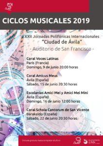 XXII Jornadas Polifónicas internacionalesCiudad de Ávila @ Auditorio de San Francisco