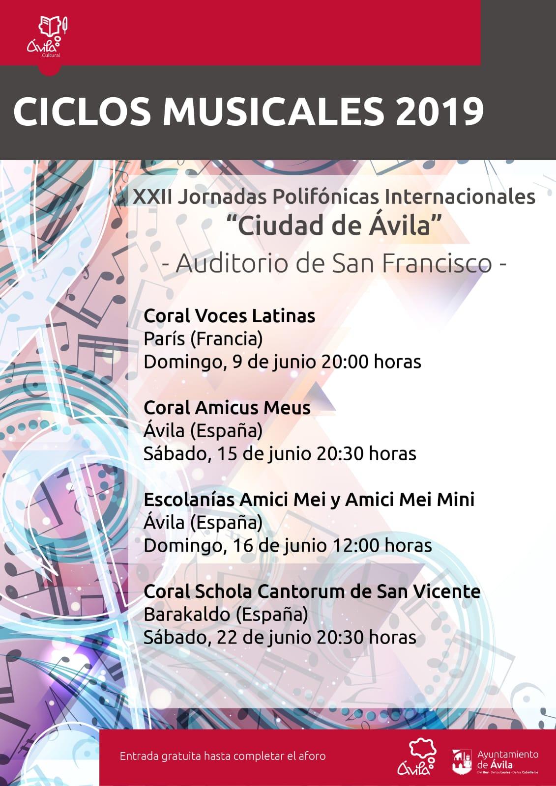 XXII Jornadas Polifónicas internacionalesCiudad de Ávila